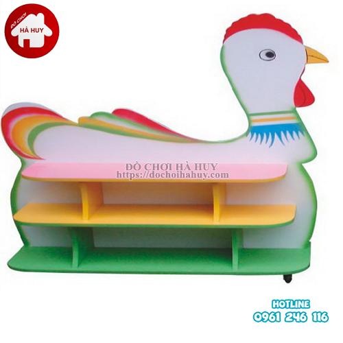 giá đồ chơi con gà trống 3 tầng