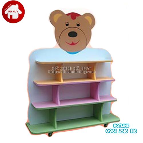 giá đồ chơi con gấu 4 tầng
