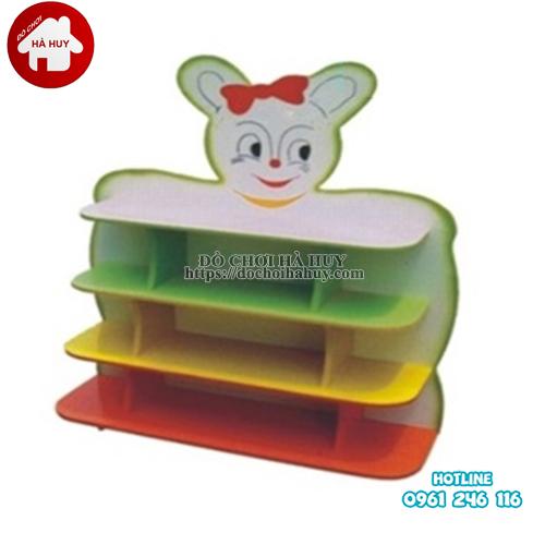 giá đồ chơi hình con thỏ 4 tầng