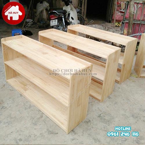 Giá để đồ cho bé 2 tầng gỗ tự nhiên HC4-003-2