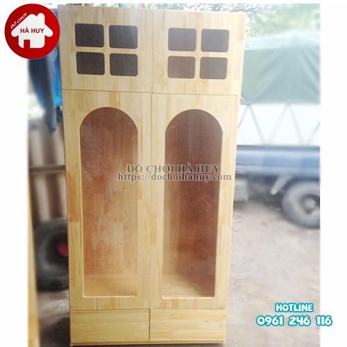 Tủ đựng đồ âm nhạc mẫu 2 mầm non HC4-011
