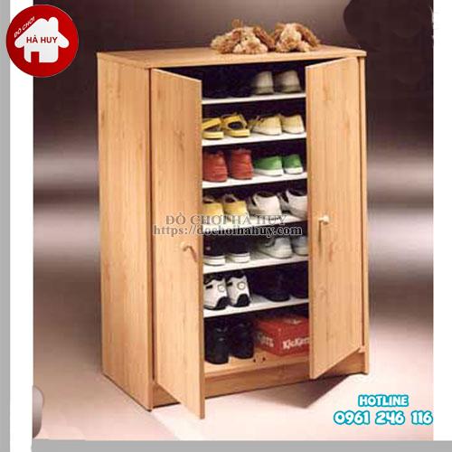 Tủ giày dép trường mầm non gỗ tự nhiên HC4-018-2