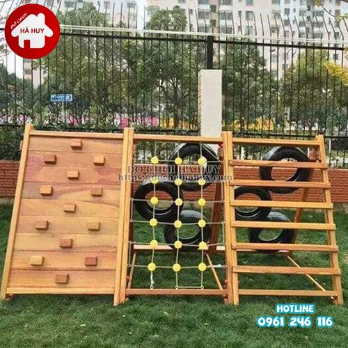 Bộ leo núi đa năng bằng gỗ cho bé HE2-002-2