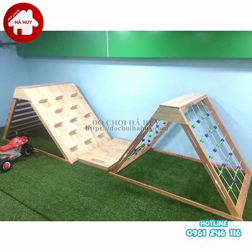 Bộ vận động leo núi đa năng bằng gỗ cho bé VDG-010-2