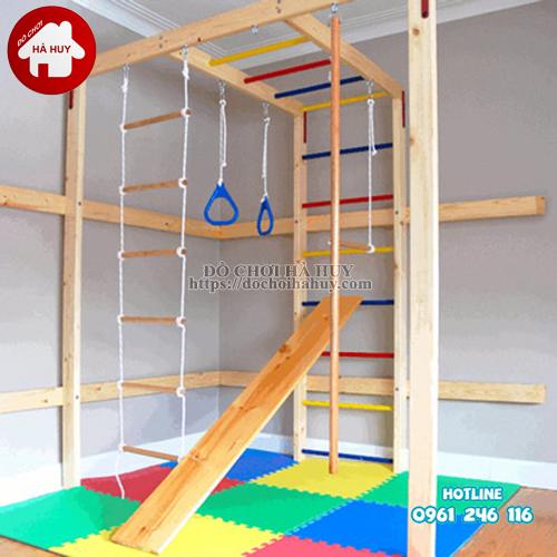 Bộ vận động thể chất đa năng bằng gỗ cho bé VDG-008-2