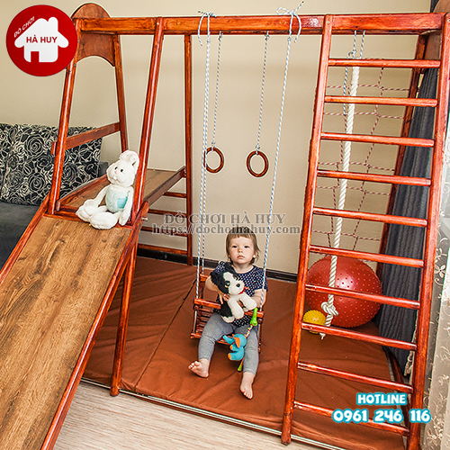 Bộ vận động thể chất đa năng bằng gỗ cho bé VDG-008-3
