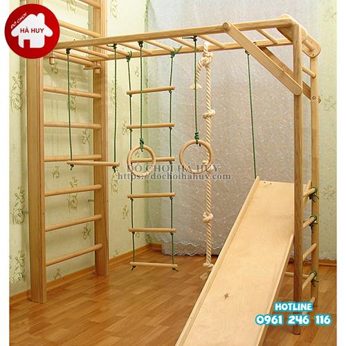 Bộ vận động thể chất đa năng bằng gỗ cho bé VDG-008-4