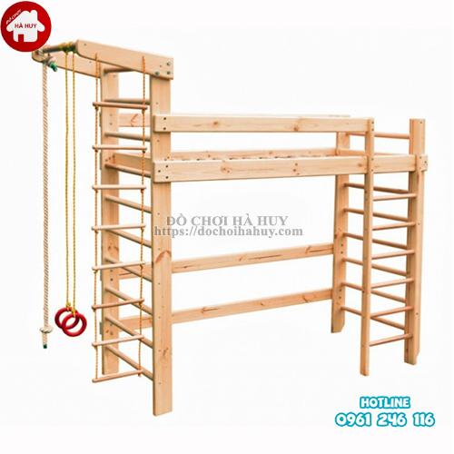 Bộ vận động thể chất đa năng bằng gỗ cho bé VDG-008-5