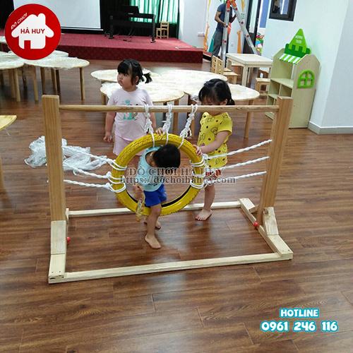 Vòng chui vận động bằng gỗ cho bé VDG-009-2