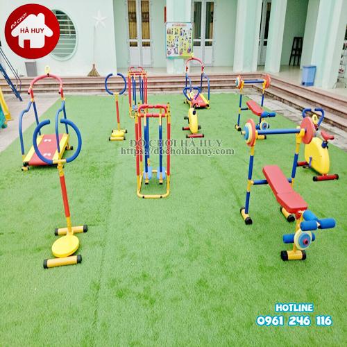 Bộ tập gym rèn luyện cơ ngực cho bé mầm non HA7-010-1
