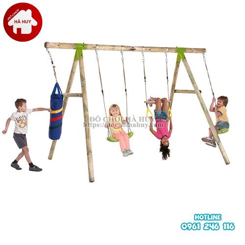 Xích đu đa năng bằng gỗ cho bé VDG-004-1