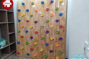 Sản xuất lắp đặt vách leo núi cho bé bằng gỗ cho khách tại Hà Nội