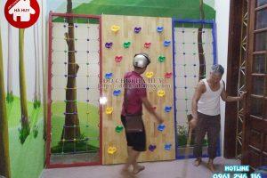 Sản xuất lắp đặt vách leo núi leo dây cho khách tại Hà Nội