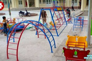 Sản xuất thang leo vận động ngoài trời trường mầm non tại Hải Dương