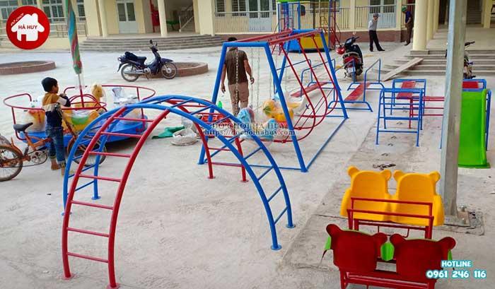 Sản xuất thang leo vận động ngoài trời trường mầm non tại Hải Dương-1