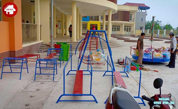 Sản xuất thang leo vận động ngoài trời trường mầm non tại Hải Dương-2