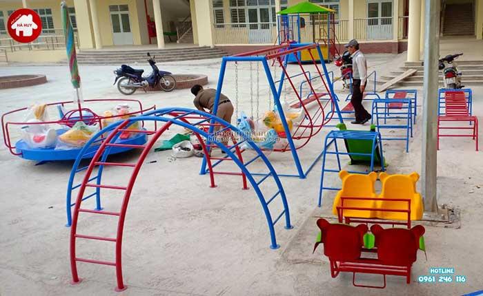 Sản xuất thang leo vận động ngoài trời trường mầm non tại Hải Dương-4
