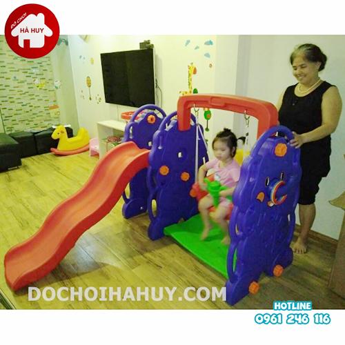 Lắp đặt cầu trượt xích đu nhập khẩu tại nhà cho bé