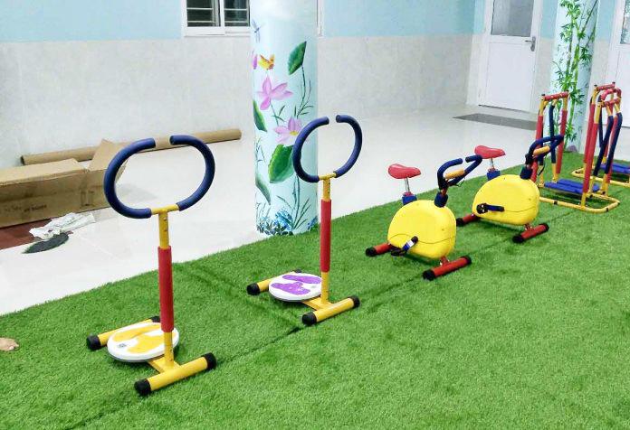 Một khu tập GYM trẻ em do Hà Huy cung cấp ở trường mầm non
