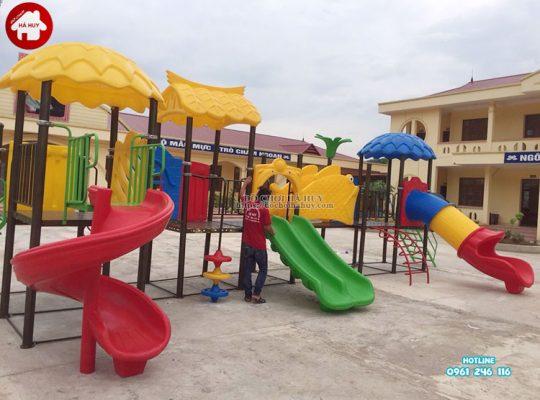 Lắp đặt đồ chơi ngoài trời cho trường mầm non tại Bắc Giang