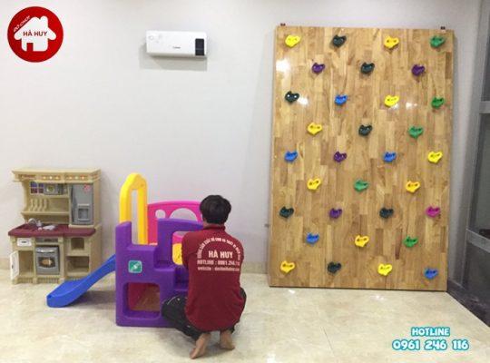 Thi công và lắp đặt vách leo núi cho trường mầm non tại TP Ninh Bình