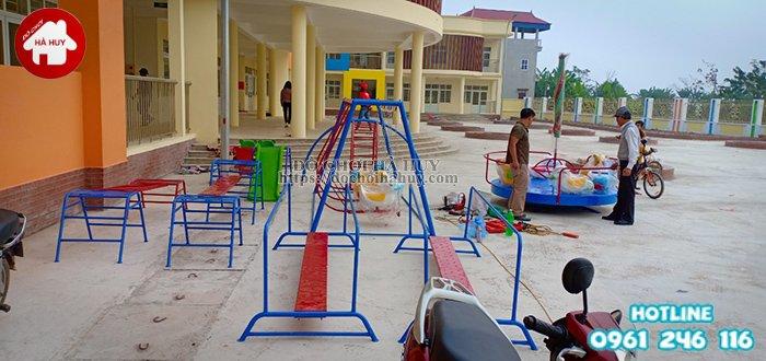 Hoàn thiện lắp đặt các thiết bị vui chơi trẻ em tại Mỹ Đức – Hà Nội