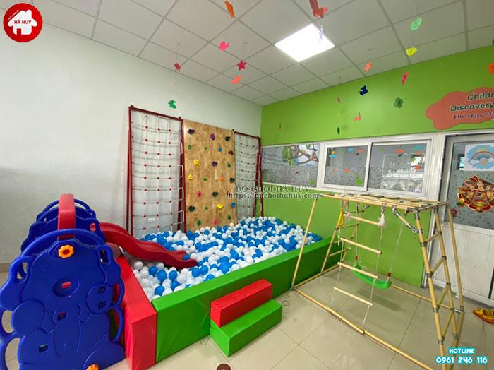 Lắp đặt góc vui chơi vận động cho bé mầm non tư thục